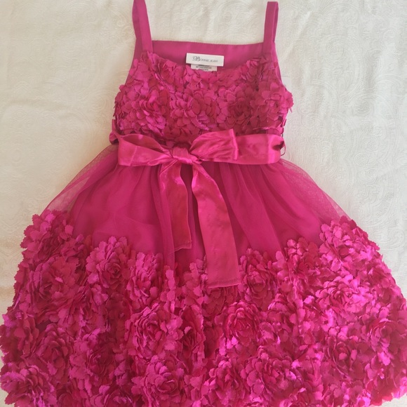 ac6b7691a83e Bonnie Jean Dresses | Dark Pink Net Dress Girls 3t Size | Poshmark